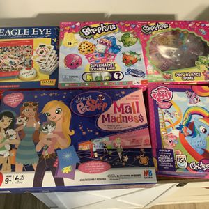 Shopkins, My Little Pony, Littlest Pet Shop Kids Board Games for Sale in Avon, OH