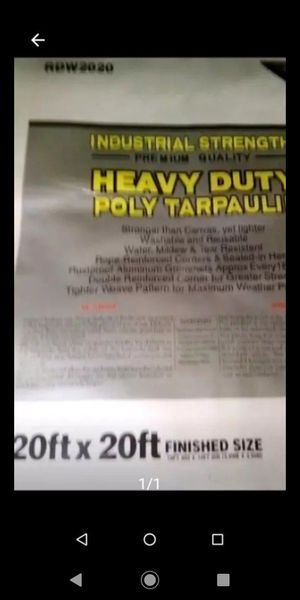 20x20ft. Heavy duty industrial white tarp new $45.00 for Sale in Los Angeles, CA