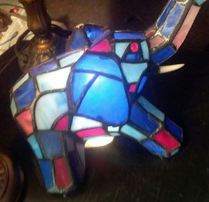 Tiffany style stained glass elephant lamp/nightlight for Sale in St. Louis, MO