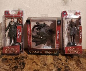 HBO Game of Thrones Jon Snow - Arya Stark - Dragan Action Figures McFarlane Toys - NEW for Sale in Florissant, MO