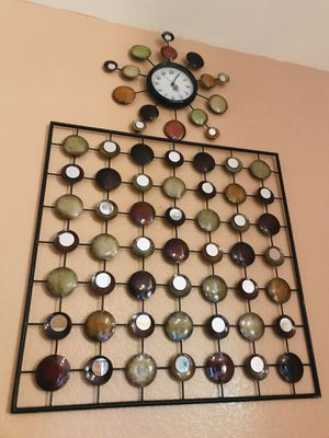 Wall frame with clock for Sale in Murrieta, CA