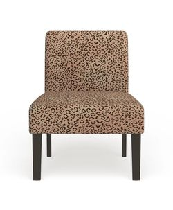 """A set Of 2 Leopard Accent Chairs In Excellent Condition. Deeply Padded, Espresso Finish Frame. Overall 33"""" High X 38.6"""" Long C 27"""" Wide. for Sale in Brooklyn,  NY"""