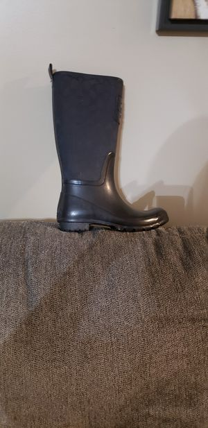 Coach rain boots size, 8 for Sale in Fairview, TN
