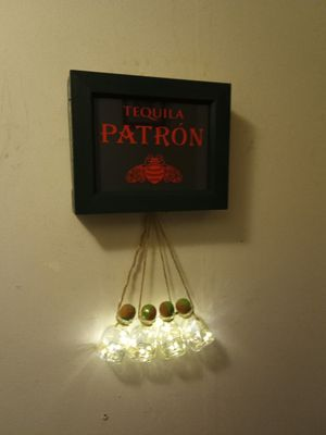 Homemade Patron sign with bottle lights for Sale in Dupo, IL