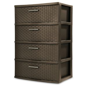 Sterilite, 4 Drawer Wide Weave Tower, Espresso for Sale in Orlando, FL