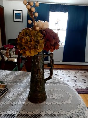 Hand painted vase and flowers for Sale in Worcester, MA