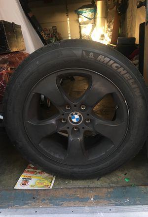 BMW rims w/tires 235/55 R17 & P235/55 R17 for Sale in San Diego, CA