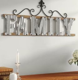 New Metal And Wood Farmhouse FAMILY wall Decor (( Lady One Left )) for Sale in Fort Lauderdale,  FL
