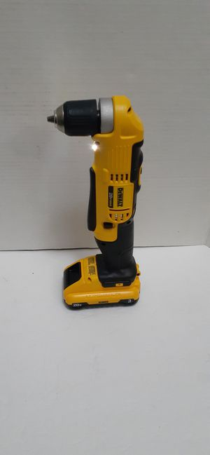 DEWALT 20-Volt MAX Lithium-Ion Cordless 3/8 in. Right Angle Drill 2 speed and 3.0 battery brand new nuevo for Sale in San Bernardino, CA