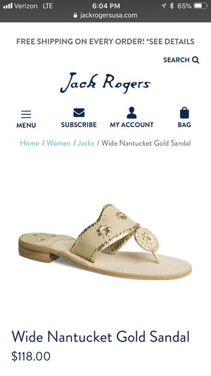 Jack Rogers Nantucket Baby Camel and Gold Sandal for Sale for sale  New York, NY