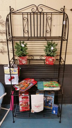 Solid Wrought Iron Folding Bakers Rack for Sale in Flowery Branch, GA
