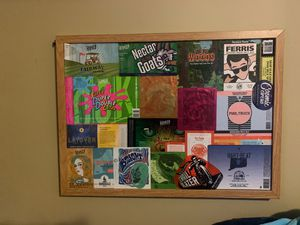 BEER CAN LABLE ART , framed. for Sale in Wethersfield, CT