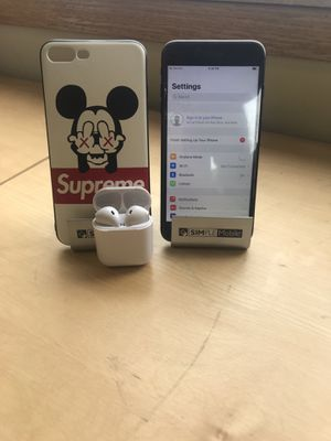 iPhone 7 Plus w/AirPods & Case for Sale in Cleveland, OH