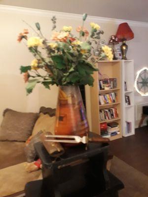 Vase with flowers for Sale in San Antonio, TX