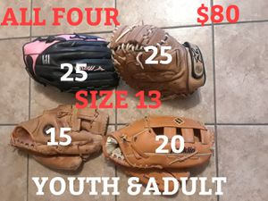 BASEBALL GLOVES/good condition. for Sale in Las Vegas, NV