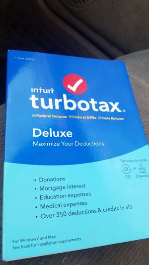 Intuit Turbotax Deluxe for Sale in Antioch, CA