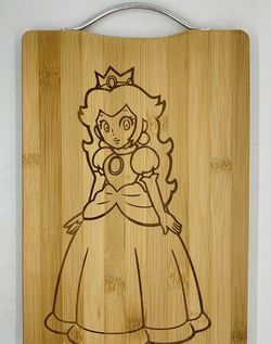 Peach laser engraved bamboo high quality cuttingboard pop gift for Sale in Los Angeles,  CA