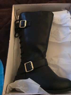 New Girls black boots size 8 for Sale in Greer, SC