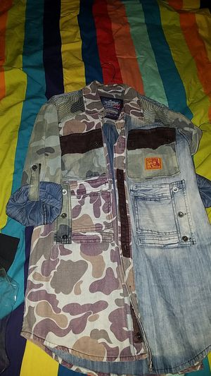 Heritage america 2x runs small cargo camo Jean' shirt nice piece brown corduroy pockets for Sale in Cleveland, OH