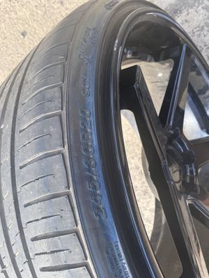 "22"" Farrada FR3 Matte Black Concave Wheel Rims $800 OBO for Sale in Wethersfield, CT"