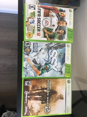 Xbox 360 games (modern warfare 2, SSX tricky, and fifa 12) for Sale in Seattle, WA