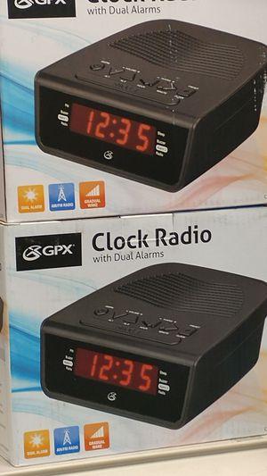GPX C224B Dual Alarm Clock AM/FM Radio with Red LED Display (Black) for Sale in Phoenix, AZ