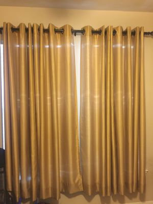 Curtains and Curtain Rod for Sale in Austin, TX