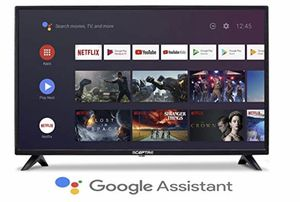 Sceptre Android TV A322BV-SRC 32-inch Smart LED HD TV Google Assistant Chromecast Bluetooth Remote, Machine Black 2020 for Sale in Maryland Heights, MO
