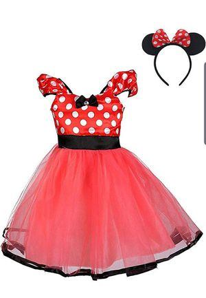 Toddler minnie mouse dress and ears for Sale in Las Vegas, NV