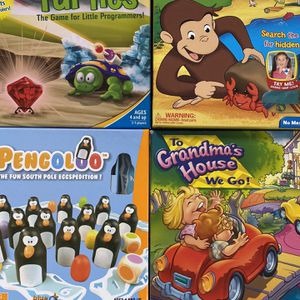 Four Pre-school Board Games (like new) for Sale in San Diego, CA