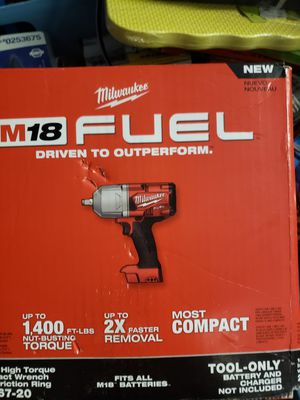 Milwaukee FUEL 18-Volt Lithium-Io1n Brushless Cordless 1/2 in. Impact Wrench with Friction Ring (Tool-Only) for Sale in Brockton, MA