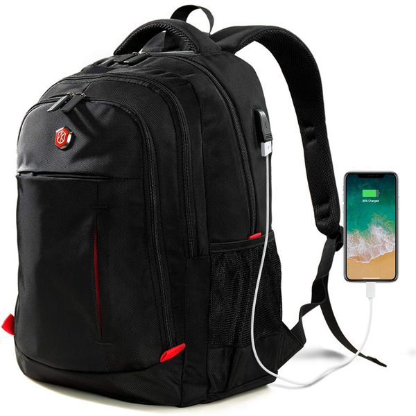 Laptop Backpack, Travel Waterproof Computer Bag for Women Men, Anti-theft High School College Bookba