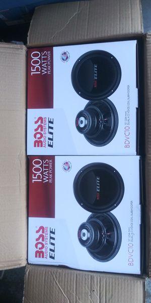 2 Boss 10 inch subwoofers 1500 watt each for Sale in Modesto, CA
