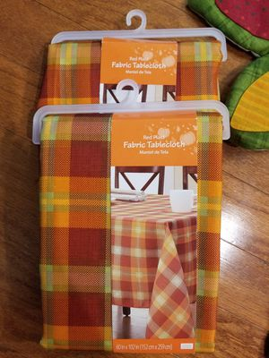 Set of 2 New Fall Harvest Fabric Tablecloth for Sale in Ashburn, VA