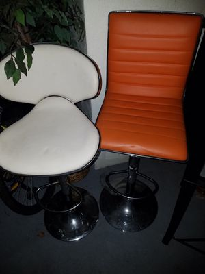 *Two high 360 degree stools, on adjustable chrome frames* for Sale in Orlando, FL