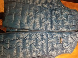 Patagonia mens micro puff vest Balkan blue for Sale in Chicago, IL