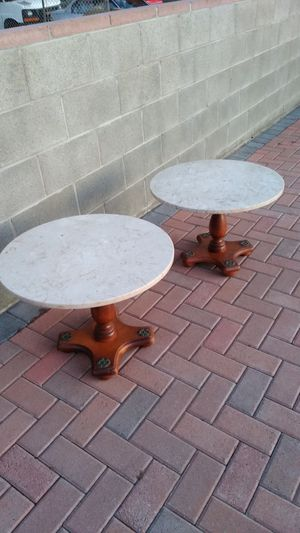 "Set of Short Marble Top Tables 18""H x 24""W for Sale in Gardena, CA"