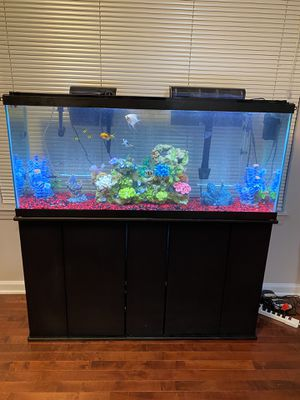 65 gallon fish tank aquarium full set for Sale in Royal Oak, MI