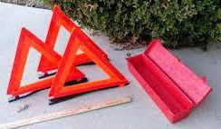 Emergency reflective triangles and case for Sale in Medford, OR