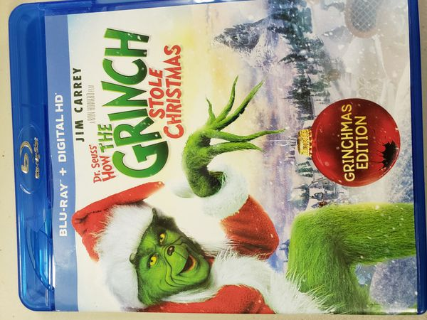 How the Grinch Stole Christmas on bluray aand digital copy
