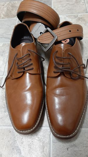 Van Heusen Tan Shoes W/Matching Belt for Sale in Tacoma, WA