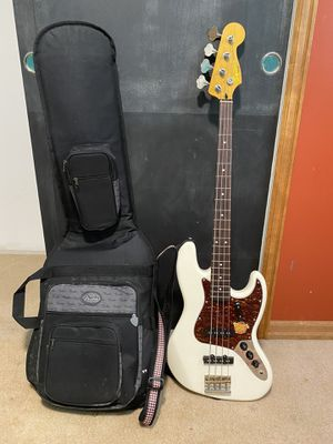 Fender Squire Jazz Bass Guitar with Back Pack Case for Sale in Portland, OR