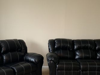 Reclining- leather sofa and love seat Selling for $950 for Sale in Euclid,  OH
