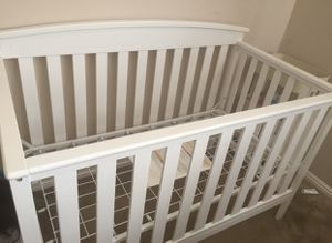 Baby white crib for Sale in March Air Reserve Base, CA