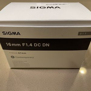 Sigma 16mm f/1.4 Contemporary Lens for Sale in San Jose, CA