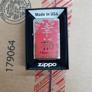 Zippo Chinese symbol Happiness High polished Chrome 28067 for Sale in Los Angeles, CA