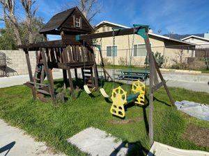 Wooden Play Swing Set for Sale in Jurupa Valley, CA