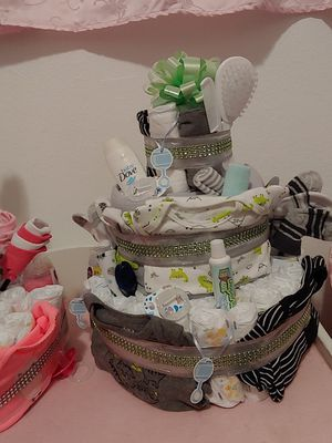 Boy diaper cake for Sale in Kearns, UT