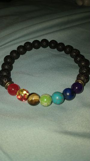 Marble bead bracelet adjustable straps gallexy bracelet planet dark blue medal charm for Sale in Gilbert, AZ