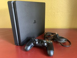 Sony PlayStation 4 Slim 1TB Console - Black, Used for Sale in Seattle, WA